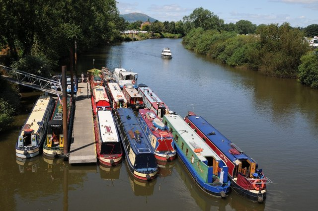 Narrowboats moored at Upton-upon-Severn