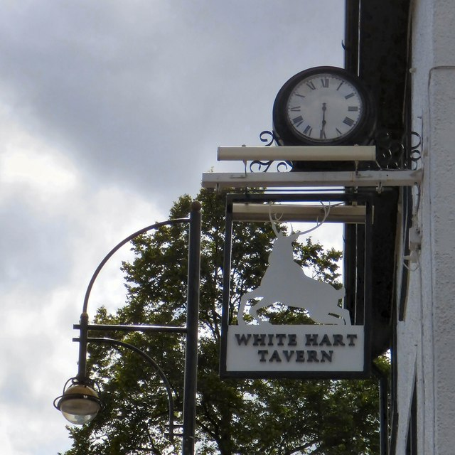 Sign of the White Hart Tavern