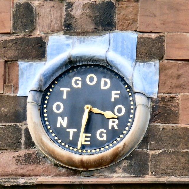 South facing clock face