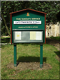 TM1469 : All Saints Church Notice Board by Geographer