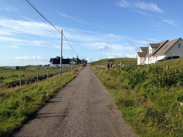 Minor road near Lower Ardtun