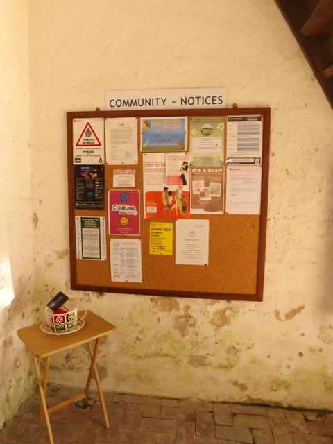 Community Notice Board at All Saints Church
