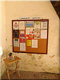 TM1469 : Community Notice Board at All Saints Church by Geographer