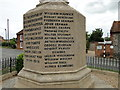 TF9337 : Egmere War Memorial names at Little Walsingham by Adrian S Pye