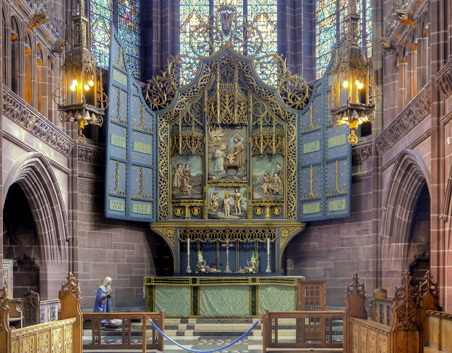 Lady Chapel, Altar and Triptych