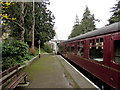 SP0229 : Awaiting departure from Winchcombe railway station by Jaggery