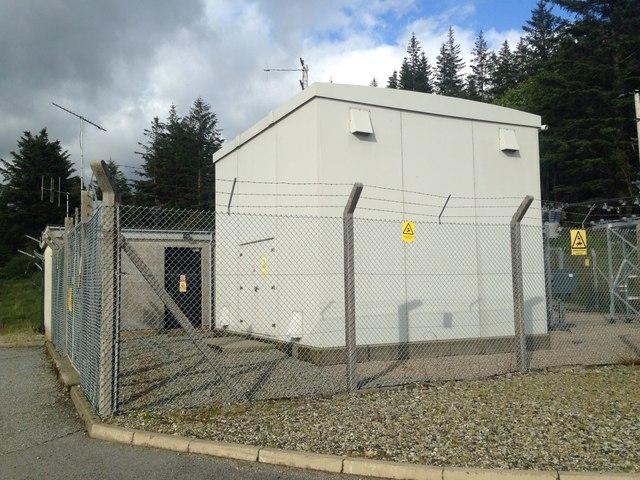 Electricity substation near Pennyghael