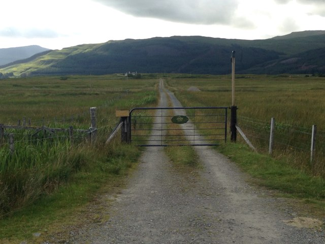 Gated track to Airds Croft