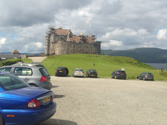 Duart Castle and car park