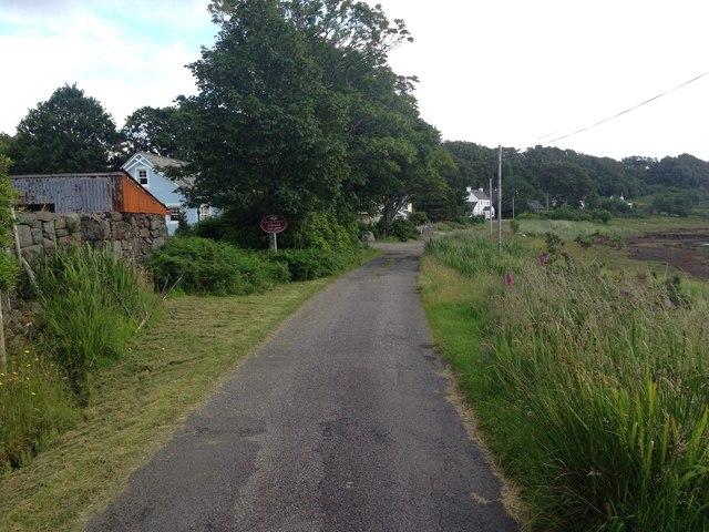 Minor road at Lochdon