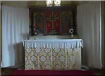 SS6138 : St Michael & All Angels church, Loxhore: altar by Basher Eyre