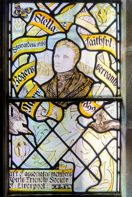 Liverpool Cathedral Staircase Window, Mary Rogers