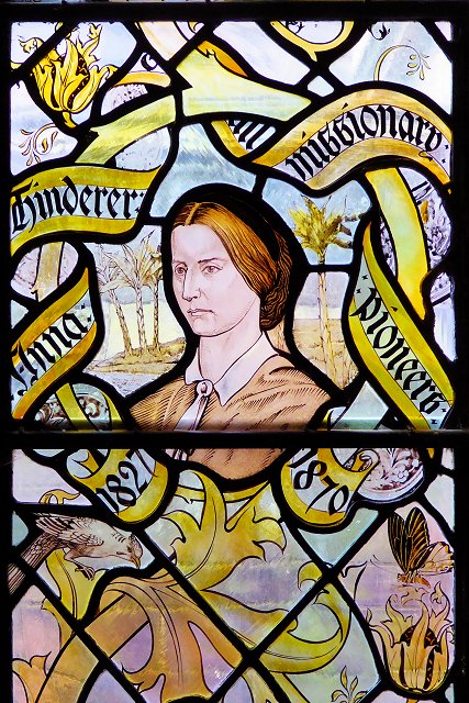 Liverpool Cathedral Staircase Window, Anna Hinderer