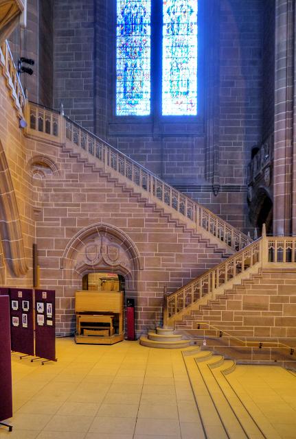 Liverpool Cathedral, Stairs to Dulverton Bridge