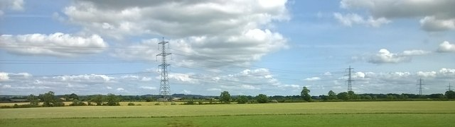 View towards pylon line, north of Alne