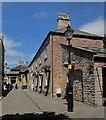ST5545 : Walkway by town hall,Wells by Derek Harper