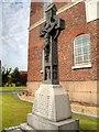 SJ3588 : Memorial Outside St Patrick's Chapel by David Dixon