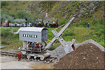NY3224 : Threlkeld Quarry & Mining Museum - train and navvy by Chris Allen