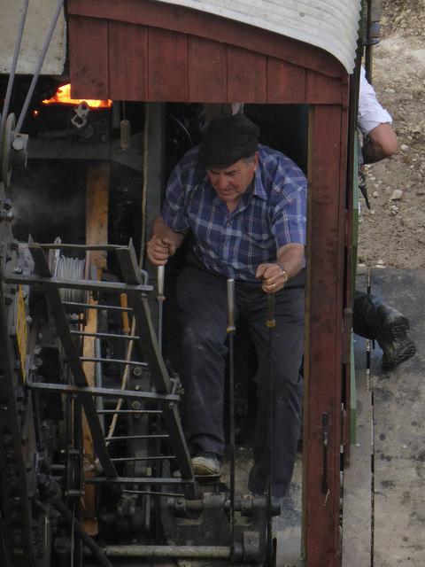 Threlkeld Quarry & Mining Museum - steam excavator driver