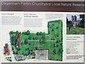 TQ5084 : Information board and outline map, Dagenham Parish Churchyard by Roger Jones