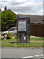 TM1369 : Telephone Box on Fen View by Adrian Cable