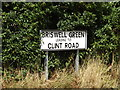 TM1370 : Briswell Green sign by Adrian Cable