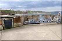 NZ8911 : Ornate gate on Whitby West Pier by David Smith