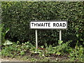 TM1369 : Thwaite Road sign by Adrian Cable