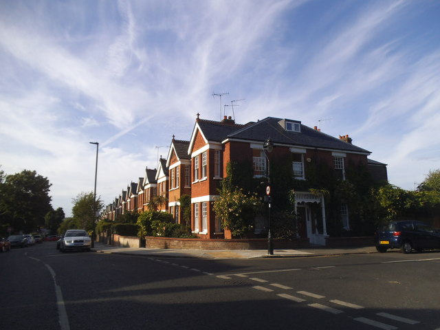 Woodfield Road at the junction of Woodfield Crescent