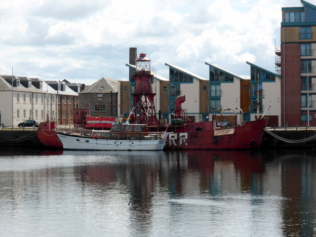 North Carr Lightship, Victoria Dock, Dundee