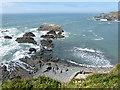 SS2224 : Beach and coastline rocks by Hartland Quay, Devon by Roger  Kidd