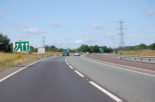 A46 slip road joining ahead