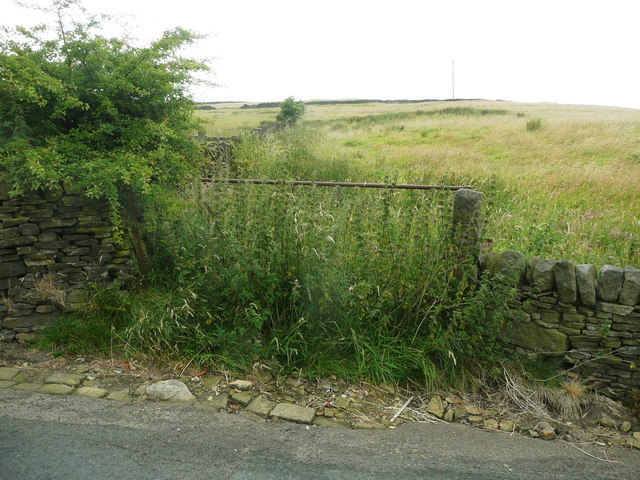 Field gate and nettles on Sowerby Bridge FP104