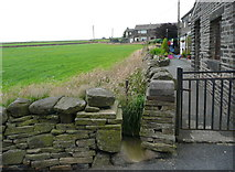 SE0322 : Stile on Sowerby Bridge FP112 (Link F) at Hubberton Green Road by Humphrey Bolton