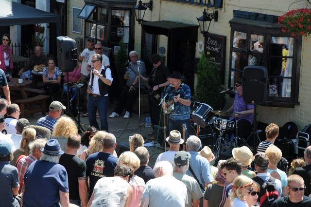 Musicians at Upton Blues Festival