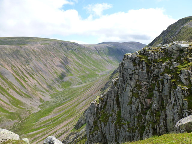 Looking into the Lairig Ghru