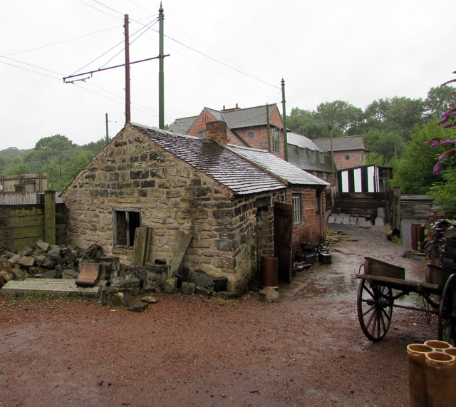 Former builders' yard reconstructed in the Black Country Living Museum, Dudley