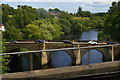 NZ4113 : Yarm Bridge and River Tees, glimpsed from the railway viaduct by Christopher Hilton