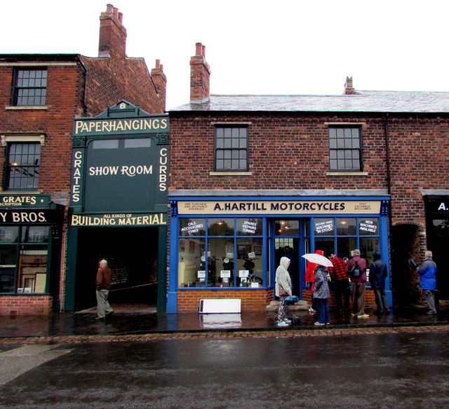 A.Hartill Motorcycles shop in Black Country Living Museum,Dudley