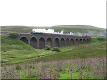 SD7992 : The Dalesman on Dandry Mire Viaduct by Gareth James