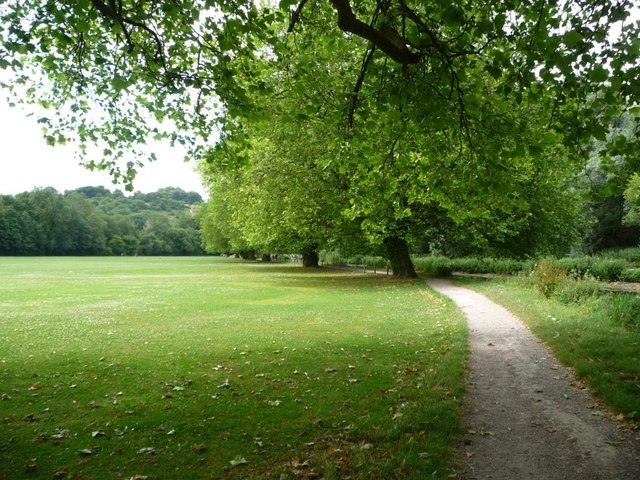 Tree-lined path, Palmer Field, Winchester