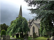 SK2381 : St Michael, Hathersage: late July 2015 by Basher Eyre