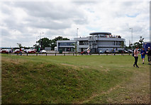 SP6741 : The Porsche Building at Hangar Straight, Silverstone by Ian S