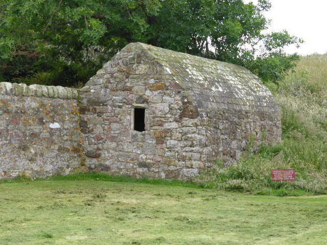 Stone building on Inchcolm