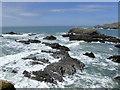 SS2224 : Rocky shoreline by Hartland Quay, Devon by Roger  Kidd