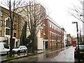 TQ3083 : Wharfdale Road, King's Cross, London, in the rain by Robin Stott