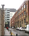 TQ3083 : Warehouses on Crinan Street, King's Cross, London by Robin Stott