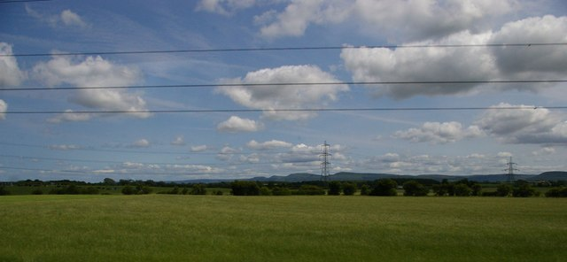 Fields and pylons south-east of Picton