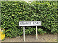 TM0969 : Grange Road sign by Adrian Cable