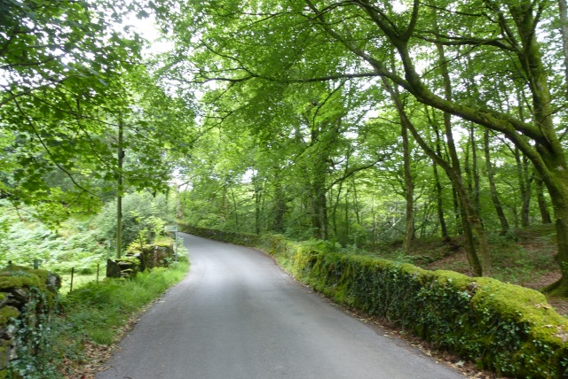 Road heading to Pen-y-Bont